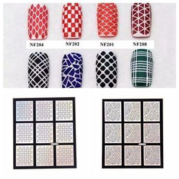 Wholesale Styles Multipurpose Makeup Tools Nails Art Stamping Sticker Hollow Template Stencils Decals Polish Manicure DIY Decorations