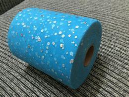 Wholesale Hot Retail inch Yards Glitter Tulle Rolls DIY Shining Mesh Matt Tulles DIY Wedding Tutu Dress Fabric colors