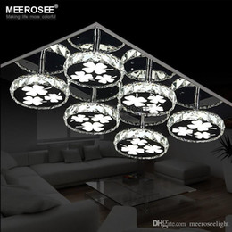 Round Chandelier Light: Modern LED Chandelier Light Fixture Square Crystal Lamp Round Ceiling  lamparas de techo LED Flush Mounted Light Lighting Kitchen Bedroom round  led ...,Lighting