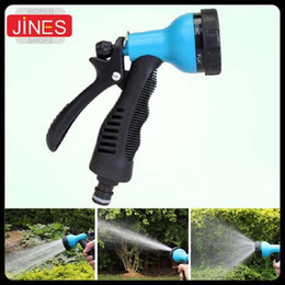 online shopping Blue Garden Yard Water Hose Spray Nozzle Head Adjust Pattern Home Car Washing Cleaning Watering Flower Plant Vegetable