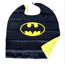 Wholesale batman cape cloak superhero cosplay cloak children boy costume for halloween party costumes children captain costume spider man capes cloaks
