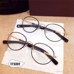 discount designer optical frames round new tf glasses 5332 prescription eyewear round frame men brand designer