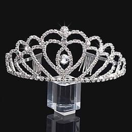 La boda única de la aleación las coronas brillantes forman las coronas baratas para la tarde del baile de fin de curso de la novia 1PC nuevo