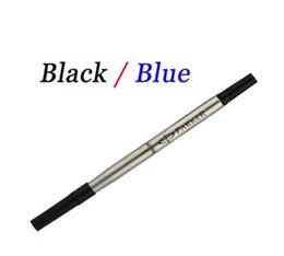 2017 pen refills blue color Wholesale-Wholesale Parker Pen Refill rod cartridge roller Ball Pen for Parker pen core refill ink recharge black blue color affordable pen refills blue color