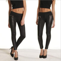 black leggings with leather panels | Gommap Blog