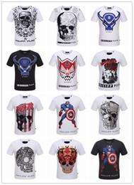 Été Hommes Mode Marque PP Manches Courtes T Shirt Hommes Occasionnels Solid Couleur Haute Qualité Crânes Philipp-Plein Sports Tee-shirts # 888124