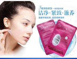 Wholesale Silk Facial Mask Aloe Mask Natural Silk Fibroin Collagen Micromolecule Repairing Skin Moisturising Anti aging Masks Face Mask