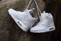 Autumn Winter Sport Sneaker Max Cushion Air White Leather High Top Men s Running Shoes Sport Trainers online