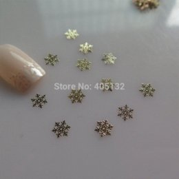Wholesale MS Metal Gold Snowflake Nail Art Metal Sticker Nail Art Decoration Fancy Outlooking sticker