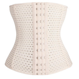 Wholesale 2016 Corset corsets Waist Trainers Women Latex Rubber waist cincher Training Belt Underbust Body Shaper Shapewear Underwear S XL