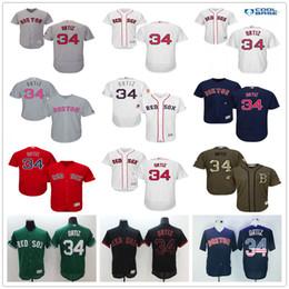 Discount baseball jerseys fashion men Boston Red Sox #34 David Ortiz Navy Blue Usa Flag Gray Red Black White Fashion Stars Green Stitched Majestic MLB Baseball Jerseys for Sale