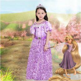 Новые Дети Девочки Алиса принцесса платья Halloween Танцевальное представление Тема Косплей костюмы для детей девочек 4-8 лет Бесплатная Доставка