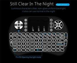 Rii I8 intelligent Fly Air Mouse Clavier à distance Télécommande sans fil Bluetooth Backlight 2.4GHz Pour Box Android Blanc Noir