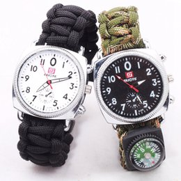 discount rope watch men 2017 rope watch men on at dhgate com whole men outdoor umbrella watch rope rescue climbers flint compass whistle outdoor survival woven bracelet watches e584l rope watch men outlet