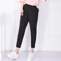 Wholesale 2016 summer plus size Pants amp Capris casual feet pants suit pants wide leg pants loose elastic waist harem pants for women
