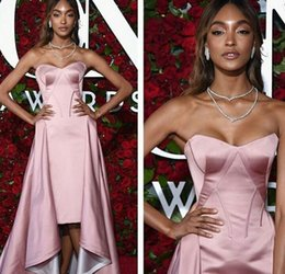 Wholesale 2016 Over Skirt Evening Dresses Shiny Pink Sheath Tea Length With Detachable Formal Prom Party Gowns