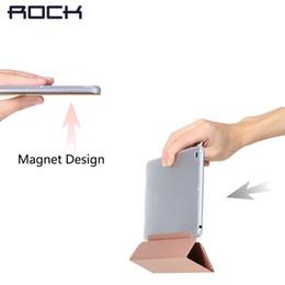 Para Xiaomi Pad 2 capa protetora Magro Rocha Folding Triplo Virar PU couro Stand Case para Mipad Pad 2 7.9 polegadas PC Tampa