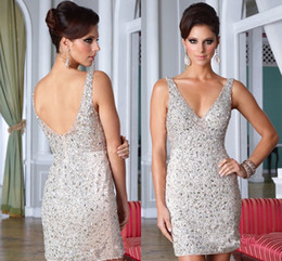 Discount Silver Cocktail Dresses For Women | 2017 Silver Cocktail ...