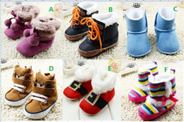 online shopping Double ball newborn snow boots M boys toddler shoes rainbow stripe winter girls baby shoes soft fuzzy kids shoes pair C