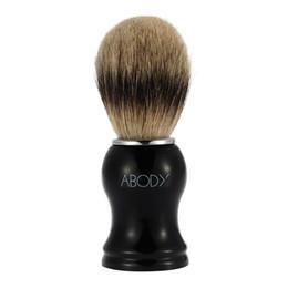 Abody Men's Blaireau escova de barbear Escova de cabelo para barba Limpeza Barbear Facial Razor escova com plástico Handle Face limpeza ferramenta W2666