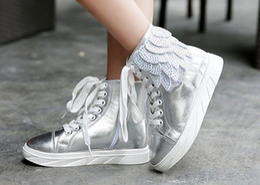 Wholesale 2016 Nouvelles chaussures de filles de toile d ailes de haut dessus d espadrilles d enfants de mode pour des enfants Chaussures d hiver et d automne
