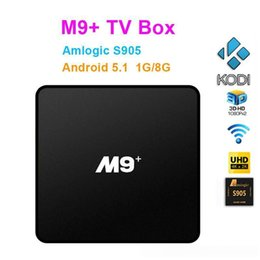XBMC полностью загружен Android OTT TV Box Remote M9 плюс S905 Quad Core 64 бит Smart Media Коробки KODI WIFI HDMI 2.0