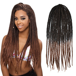 Box Braids Small 80g Black Dark Brown 2 Tone Hair Crochet Twist Braids ...