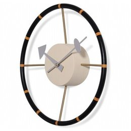 discount modern designer homes home decor designer steering wheel wall clock gear clock horloge murale factory