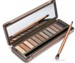 Maquillaje ahumado directo de la fábrica NO: 1 2 3 Cosméticos del sombreador de ojos del color de la gama de colores 12 con el cepillo DHL libre impermeable
