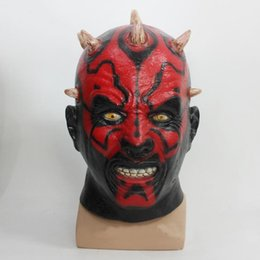 Wholesale Halloween Star Wars Darth Maul Latex Rubber Mask Party Cosplay Helmet Props