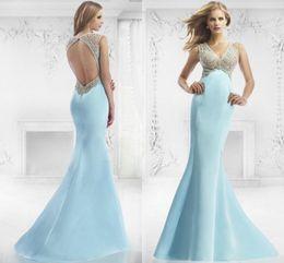 Discount Aqua Mermaid Prom Dresses | 2017 Aqua Blue Mermaid Prom ...