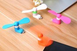 Ventilador Muelle Mini USB para el iPhone del teléfono celular mini refrigerador rotatorio práctico ventilador grande para el verano del envío 50pcs