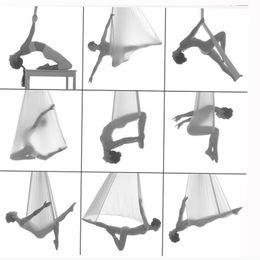 Wholesale Fitness Exercise Yoga Hammock Gym Yoga belt Stretch Yoga Strap Yoga Swing Bed Training m wide m long