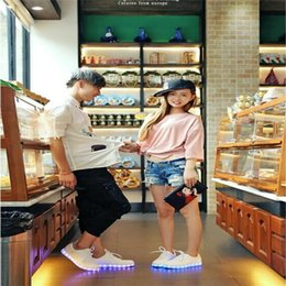 Discount light glow 2016 Women Shoes with Lights Up Colorful Glowing Led Luminous Shoes A New Simulation Sole Led Adults Fashion LED Shoes Size 35-46 Wholesale