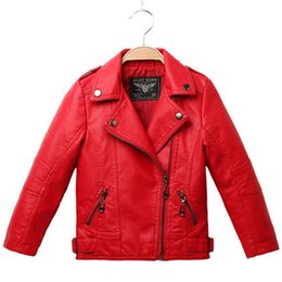 Discount Red Leather Jacket Girl Kids | 2017 Red Leather Jacket ...