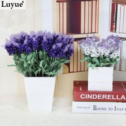 5pcs New Arrival 10 Heads Artificial Lavender Silk Flower Bouquet Wedding Home Party Decor Affordable Lavender Home Decor