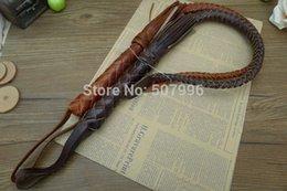 100% Подлинная кожа Новая рукоятка высокого качества Whip Knitted Outdoor Horsewhip Riding Whip cowhide Coachwhip для мужчин D-1426