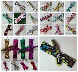 Wholesale 150color Xmas Bohemian mermaid ins cotton girls bow headband baby chevron zigzag headbands infant dot polka leopard bandanas headband