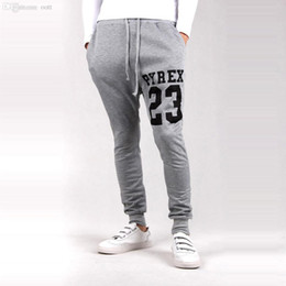 Wholesale New Fashion Special Print Stylish Boys Joggers Pantalons Hip Hop Hommes Sport Sweatpants Hommes Harem Pantalons Running Pantalons Noir