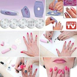 Wholesale Beauty Salon Express Nail Polish D DIY Design Kit Stamp Art Stamping Nail Decoration Professional Nail Art Equipment Tools