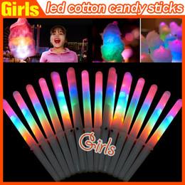 28 * 1.75CM Красочный светодиодные ручки вспышки Glow Cotton Candy Стик для вокальных концерты ночные вечеринки