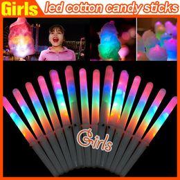 28 * el 1.75CM colores de luz LED del flash del palillo del resplandor del palillo de algodón de azúcar para voces conciertos nocturnos Partes