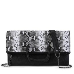 cheap authentic designer handbags 44pd  Fashion Women Messenger Bag Snake Skin Genuine Leather Chain Crossbody Bags  For Girl Summer Style Female Designer Handbag Bolsas cheap genuine snake  skin