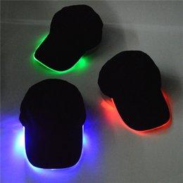2016 fabric lighting 2016 led light hat glow hat black fabric for adult baseball caps luminous black fabric lighting
