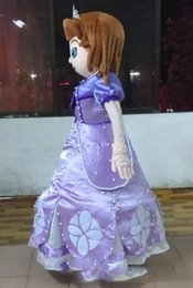 Wholesale 2014 Hot selling sofia the first princess costume sofia the first mascot costume