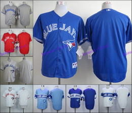 online shopping Mens Toronto Blue Jays Blank No Name Jersey White Blue Red Mens Stitched Authentic Baseball Jerseys Embroidery Logo