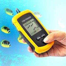 Buscador de los pescados de la alta calidad Sonar portable ató con alambre los pescados de la pesca de la alarma del buscador de la profundidad de los pescados del LCD de la alarma 100M, Dropshipping
