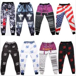 Wholesale Atacado novo emoji corredores calça para mulheres homens menina menino Emoticon Flores D Patterns calças roupa dos desenhos animados roupas L