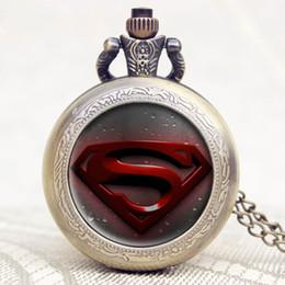 discount mens pocket watches 2017 mens pocket watches for 2017 mens pocket watches hot superman design pocket watch chain necklace quartz watches