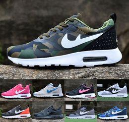 2017 shoes run air max Wholesale Women & Men Air Mesh Barefoot Max 87 Tavas Essential Running Casual Shoes Thea Print Jogging Sneakers Size 36-45 Eur